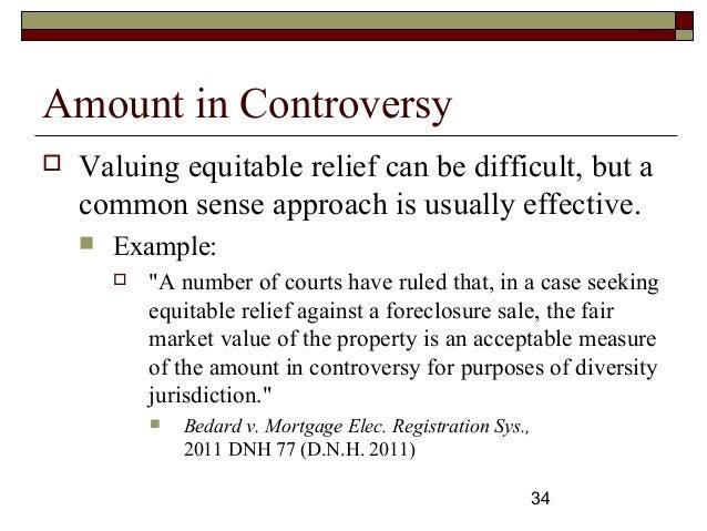 subject matter jurisdiction diversity civil procedure unh law se