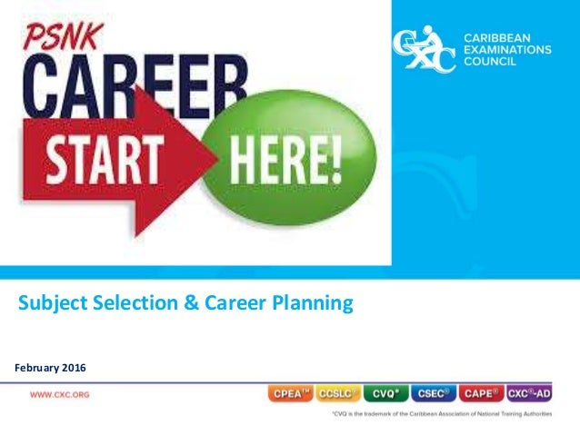 Subject Selection & Career Planning February 2016