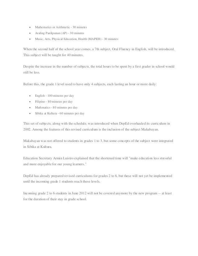 makabayan subject in k 12