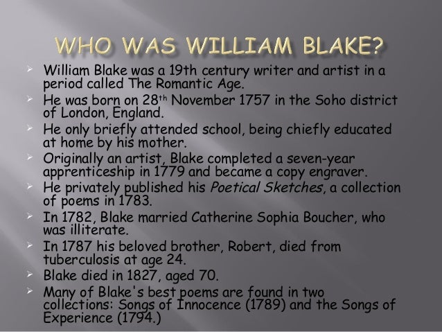 Essays william blake