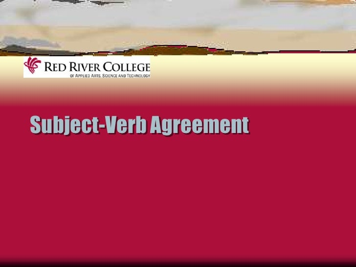 Explanation of Subject Verb Agreement
