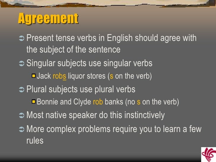 Subject verb agreement agreementbr platinumwayz