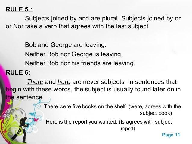 Subject verb agreement presentation plural 11 platinumwayz