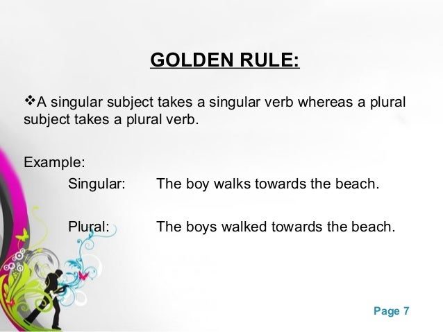 Subject Verb Agreement Powerpoint Ks2 Images Agreement Letter Format