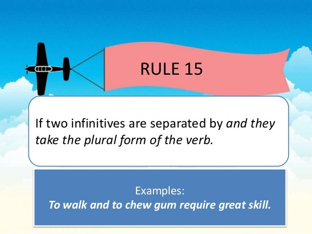 Subject verb agreement 22 rule 15 if two platinumwayz