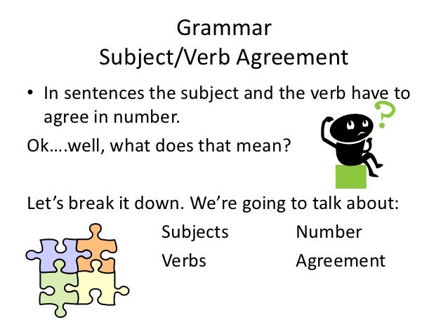 Subject Verb Agreement Slideshare