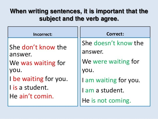 Subject Verb Agreement Pp