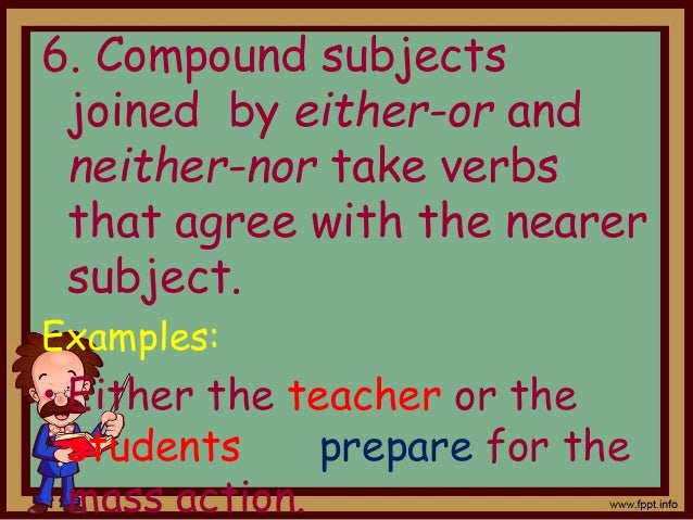Subject Verb Agreement Rules