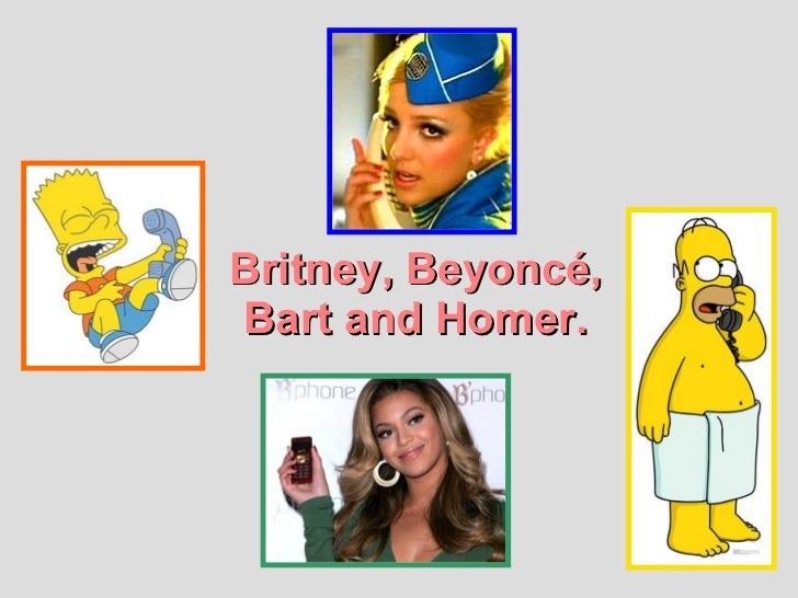 Britney, Beyoncé, Bart and Homer.