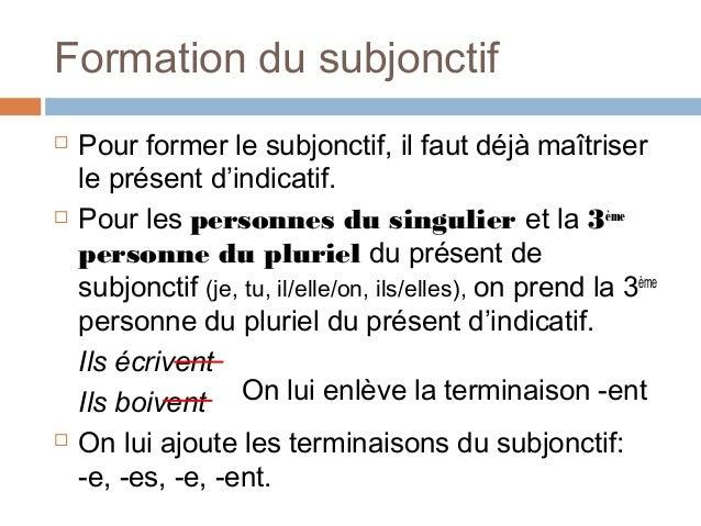 subjonctif  1