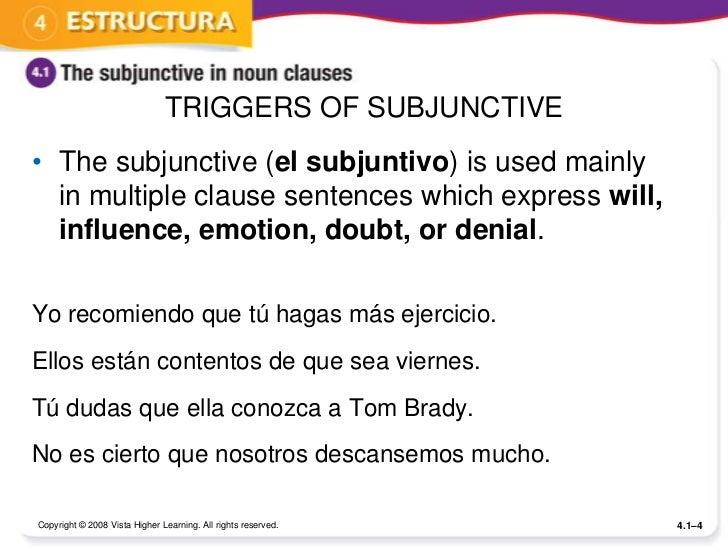 Subjunctive El Subjuntivo Ppt