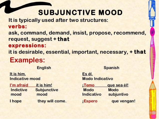 subjunctive mood
