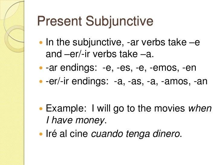 Subjunctive - Spanish II