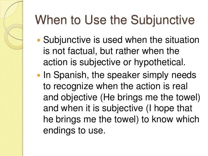 Subjunctive Spanish Ii