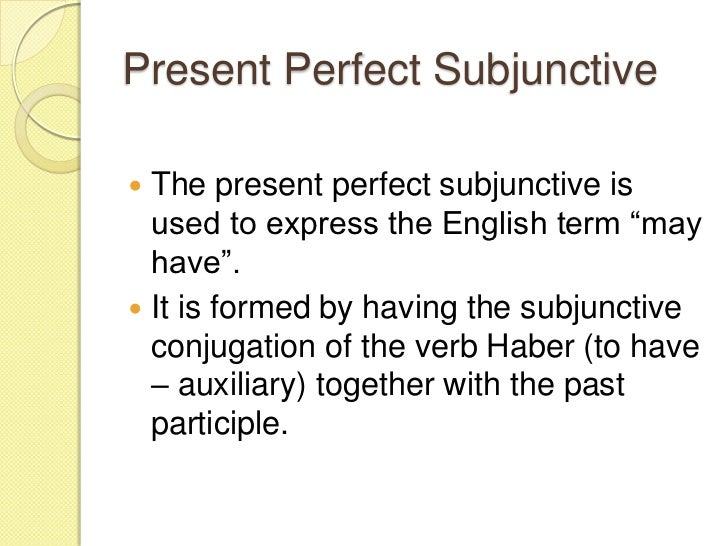 Subjunctive Spanish Ii