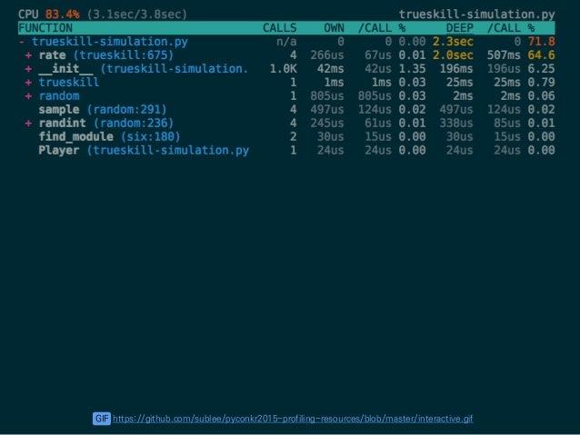 뷰어 Pickle 프로그램 프로파일링 서버 측정 측정 측정