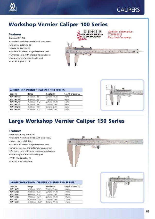 CALIPERS       Workshop Vernier Caliper 100 Series                                                                        ...