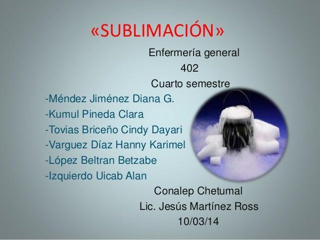 Sublimación quimi...