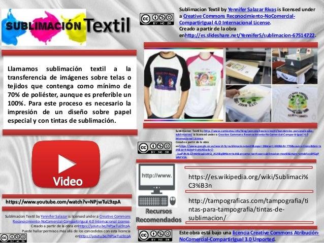 Llamamos sublimación textil a la transferencia de imágenes sobre telas o tejidos que contenga como mínimo de 70% de poliés...