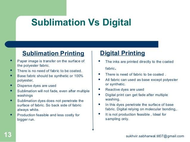 Sublimation vs Digital Printing By Sukhvir Sabharwal