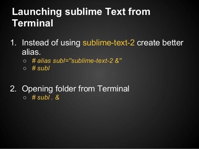 Time saving Tips for Sublime Text Slide 3