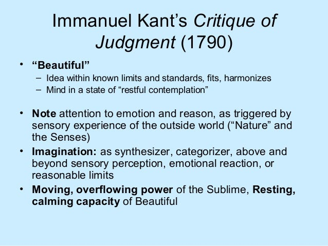 the sublime kant burke We usually think the sublime through burke or through kant for burke the sublime is the awesome power of an external authority—shock and awe.