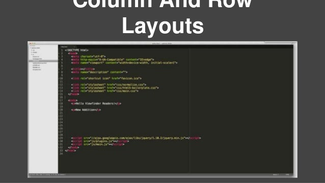Column And Row Layouts