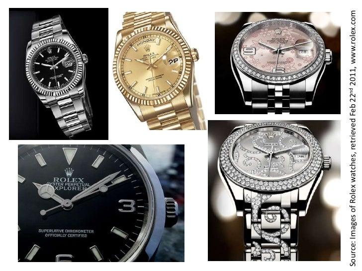 Source: Images of Rolex watches, retrieved Feb 22nd 2011, www.rolex.com