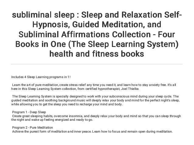 subliminal sleep : Sleep and Relaxation Self-Hypnosis
