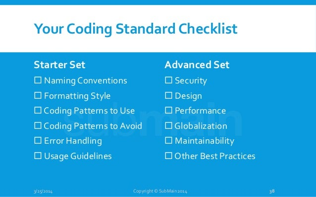 Webcast Coding Standards In The Real World