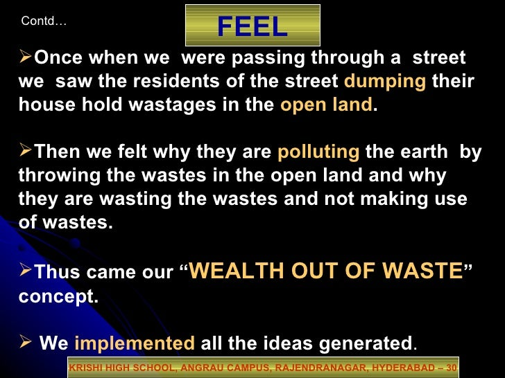Dfc2009 india wealth out of waste for Wealth from waste ideas