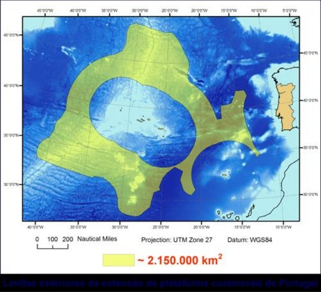 Submission to the un for the extension of the portuguese continental shelf   underwater abyssal plains