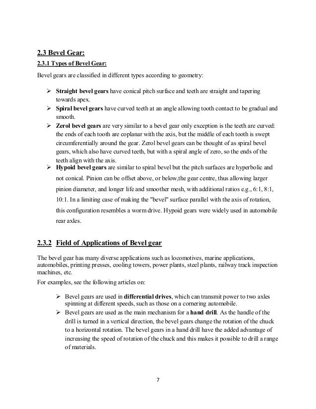 Design and construction of Bevel gear – Gear Ratio Worksheet