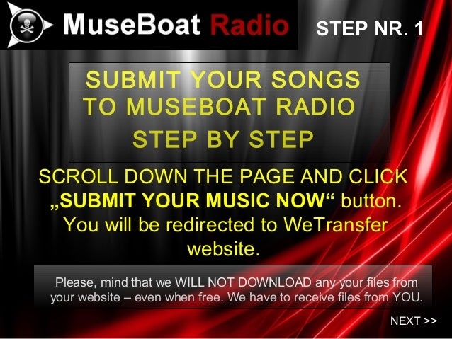Submit songs to muse boat radio 1 11
