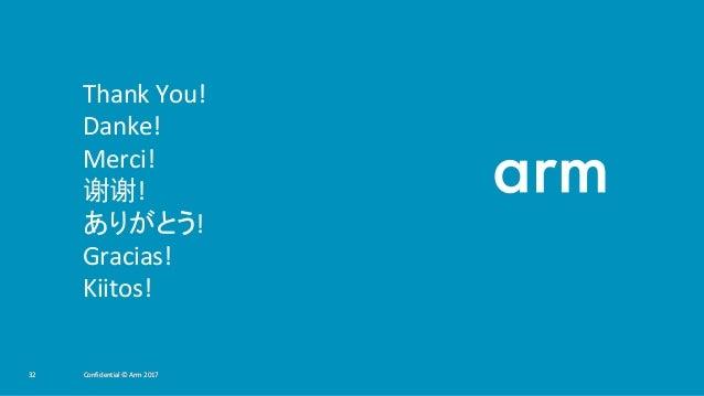 Confidential © Arm 201732 Confidential © Arm 201732 Confidential © Arm 201732 Thank You! Danke! Merci! 谢谢! ありがとう! Gracias!...