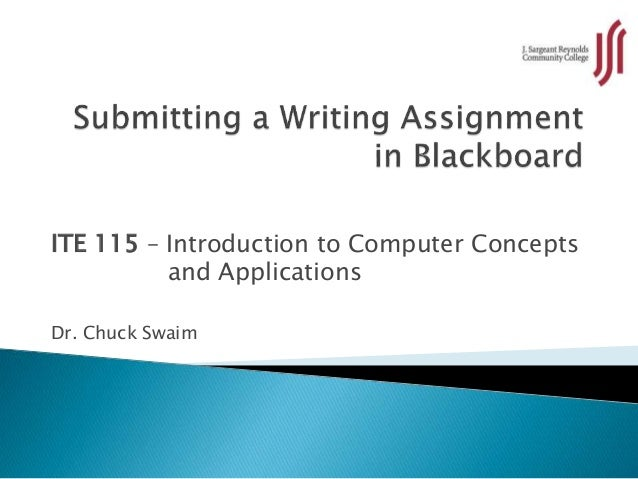 ITE 115 – Introduction to Computer Concepts and Applications Dr. Chuck Swaim