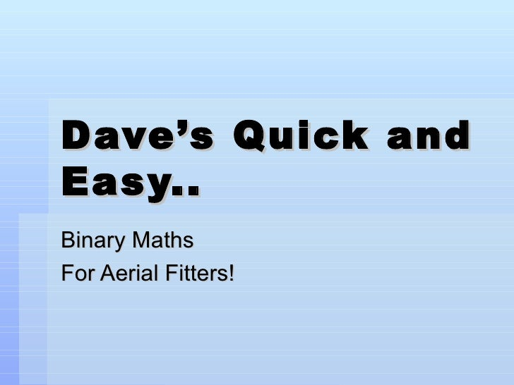 intro to subnets and binary math