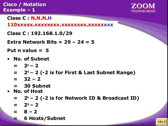 class a subnetting example pdf