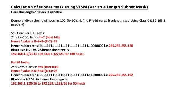 Subnetting Flsm Vlsm With Examples