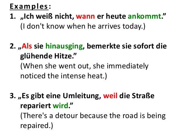 conjunction deutsch