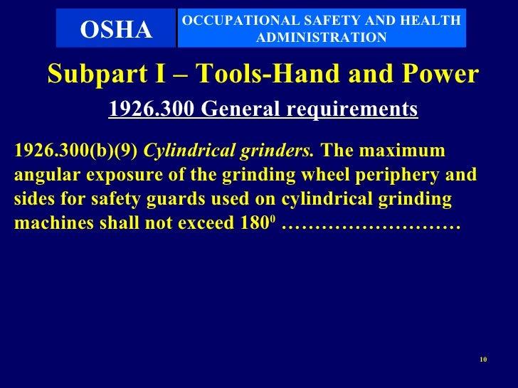 Subpart I Tools