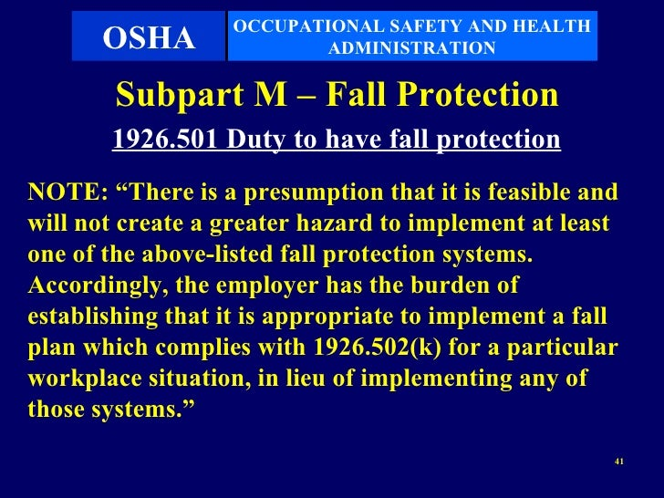 the occupational safety and health administration