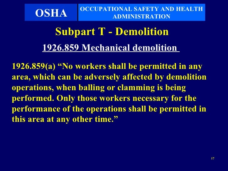 Subpart T Demolition