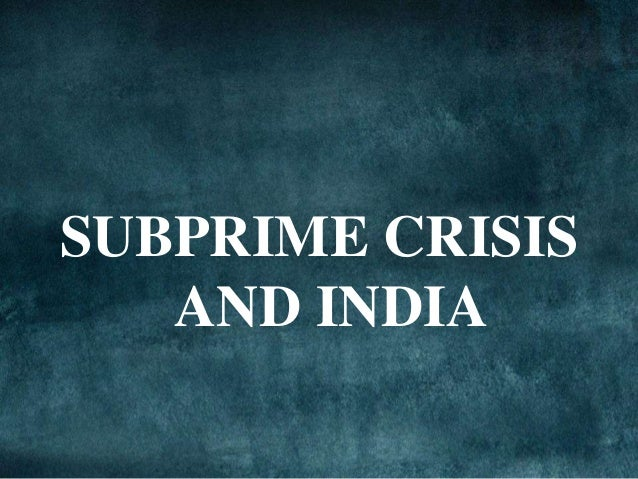 subprime meltdown global recession The great recession was a global economic downturn that devastated world   states—where it originated as a result of the subprime mortgage crisis—and in.
