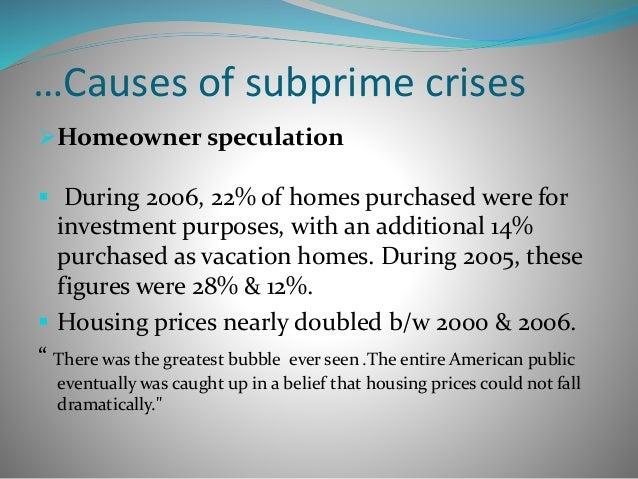 Subprime crisis