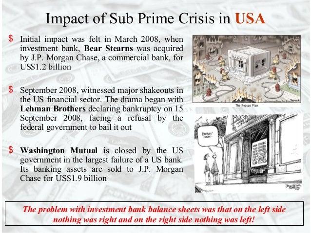 Sub prime & eurozone crisis
