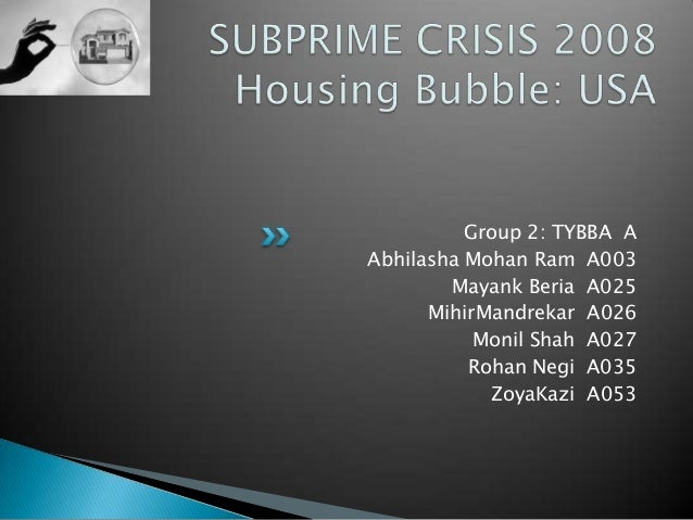 a brief analysis of subprime crisis Divided into three comprehensive sections-the subprime crisis the global   more about this book summary  part i: overview of the crisis.