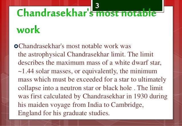 Subrahmanyan Chandrasekhar Black Holes