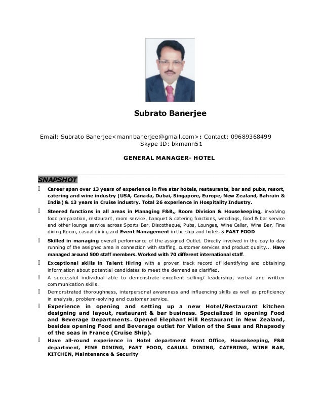 Subrato banerjee gm cover letter cv sincerely yours subrato banerjee 2 yelopaper