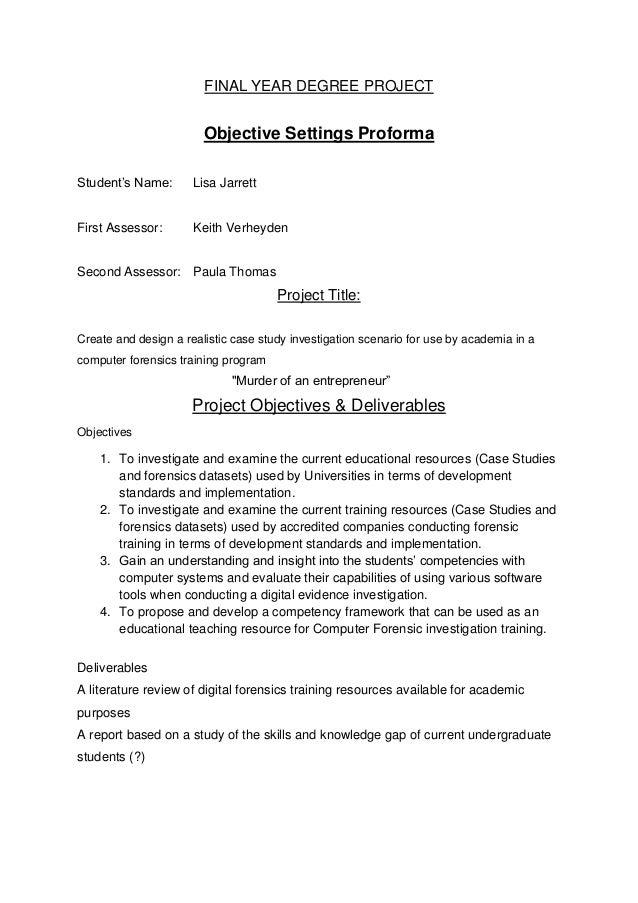 Cyber forensics development of a case